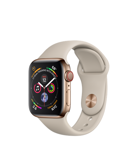 Apple Watch Series 4 40MM Gold Stainless Steel / Stone Sport Band