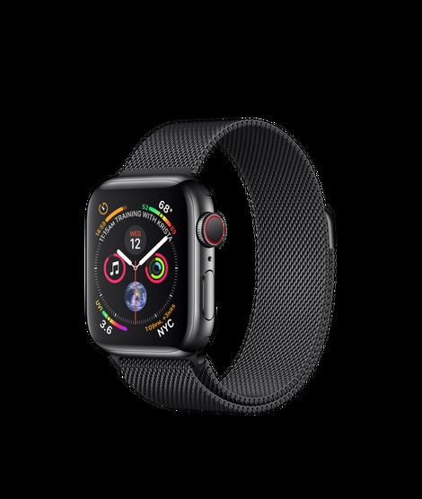 Apple Watch Series 4 40MM Black Stainless Steel / Black Milanese Loop - MTUQ2