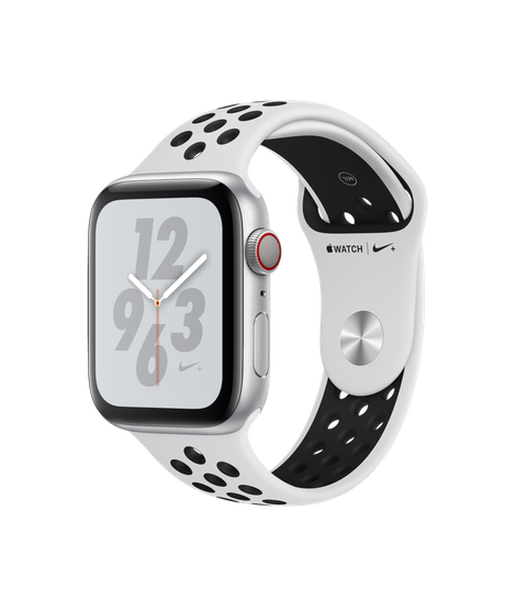 Apple Watch Series 4 LTE 44MM Nike+ Silver / White Sport Band - MTXC2