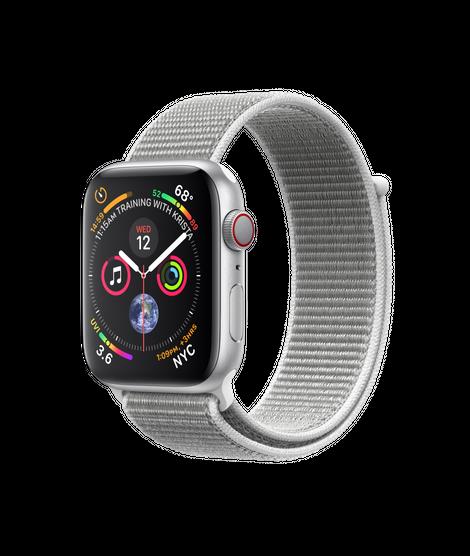 Apple Watch Series 4 LTE 44MM Silver/Seashell Sport Loop - MTVT2