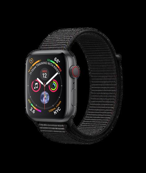 Apple Watch Series 4 LTE 44MM Gray/Black Sport Loop - MTVV2