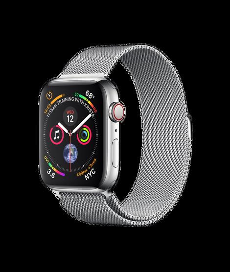 Apple Watch Series 4 44MM Stainless Steel / Milanese Loop - MTX12