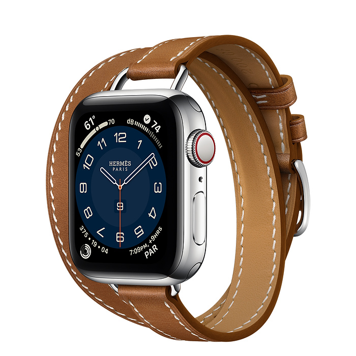 Apple Watch 6 Hermès  40mm Silver Stainless Steel Case with Attelage Double Tour