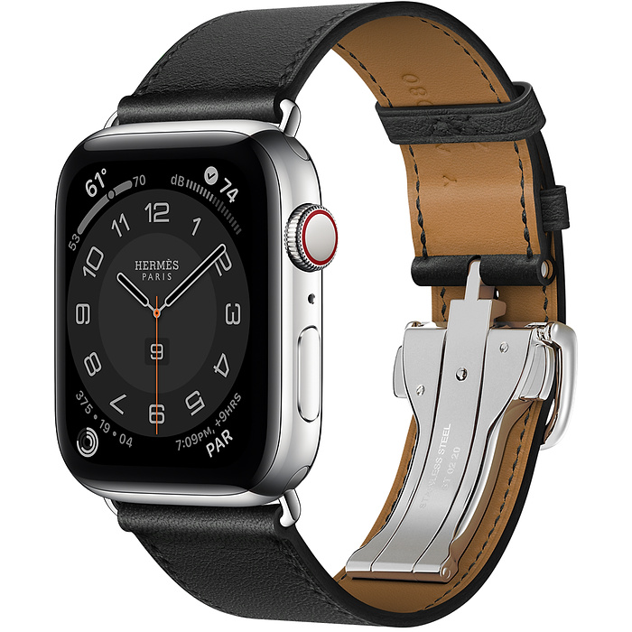 Apple Watch 6 Hermès 44mm Silver Stainless Steel Case with SingleTour Deployment Buckle