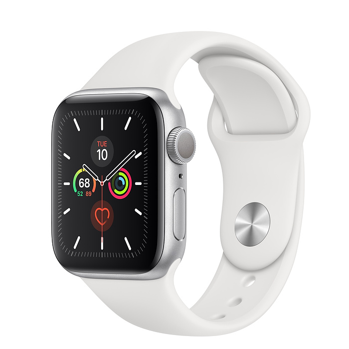 Apple Watch Series 5 GPS 40MM Silver / White Sport Band