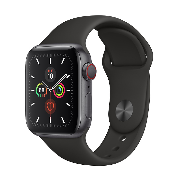 Apple Watch Series 5 LTE 40MM Gray / Black Sport Band