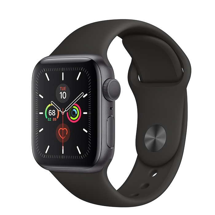 Apple Watch Series 5 GPS 40MM Gray / Black Sport Band