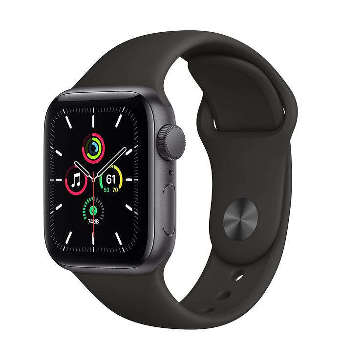 Apple Watch SE GPS 40mm Space Gray / Black Sport Band MYDP2
