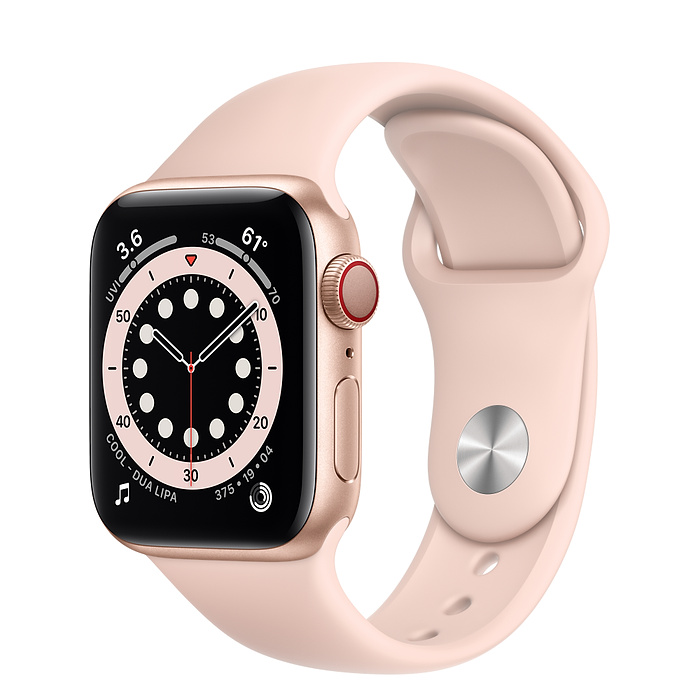 Apple Watch 6 LTE 40mm Gold / Pink Sport Band M06N3