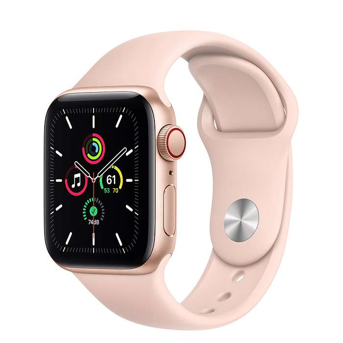 Apple Watch SE LTE 40mm Gold / Pink Sport Band MYEH2