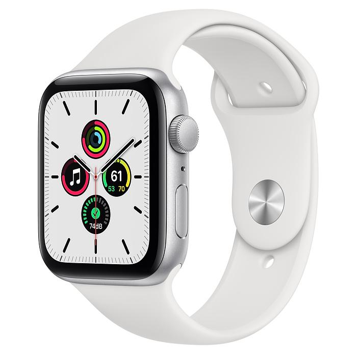 Apple Watch SE GPS 44mm Silver / White Sport Band MYDQ2