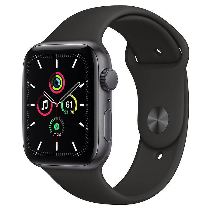 Apple Watch SE GPS 44mm Space Gray / Black Sport Band MYDT2