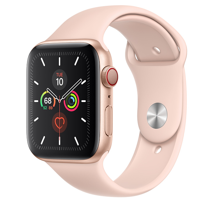 Apple Watch Series 5 LTE 44MM Gold / Pink Sport Band