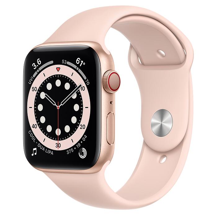 Apple Watch 6 LTE 44mm Gold / Pink Sport Band MG2D3