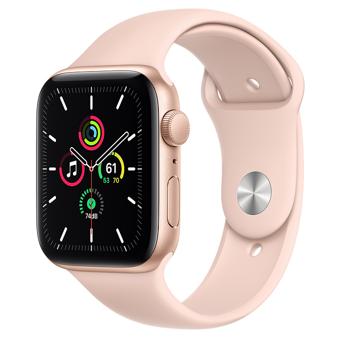 Apple Watch SE GPS 44mm Gold / Pink Sport Band MYDR2