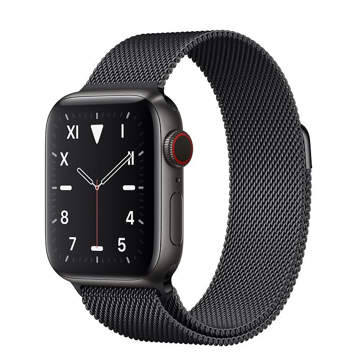 Apple Watch 5 Space Black Titanium Case 40mm with Space Black Milanese Loop