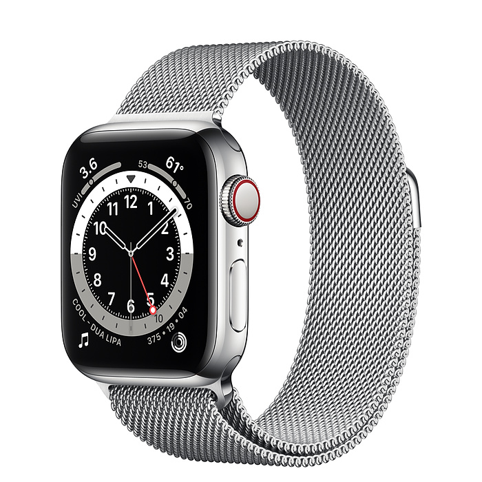 Apple Watch 6 40mm Silver Stainless Steel Case with Milanese Loop