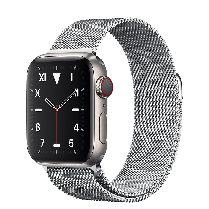 Apple Watch 5 Titanium Case 40mm with Milanese Loop