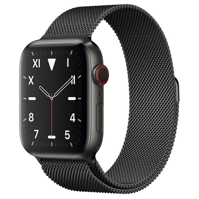Apple Watch 5 Space Black Titanium Case 44mm with Space Black Milanese Loop