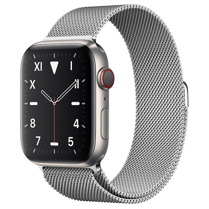 Apple Watch 5 Titanium Case 44mm with Milanese Loop
