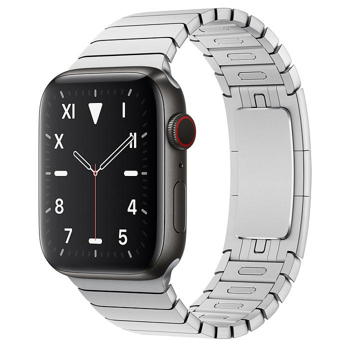 Apple Watch 5 Space Black Titanium Case 44mm with LinkBracelet