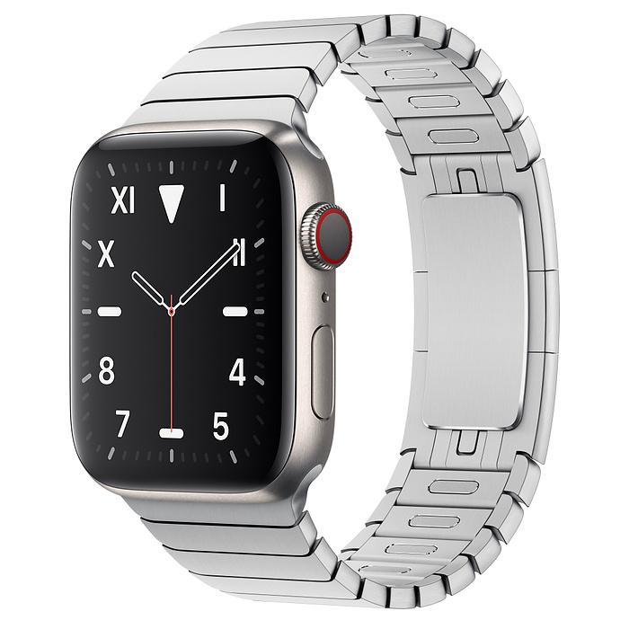 Apple Watch 5 Titanium Case 44mm with Link Bracelet
