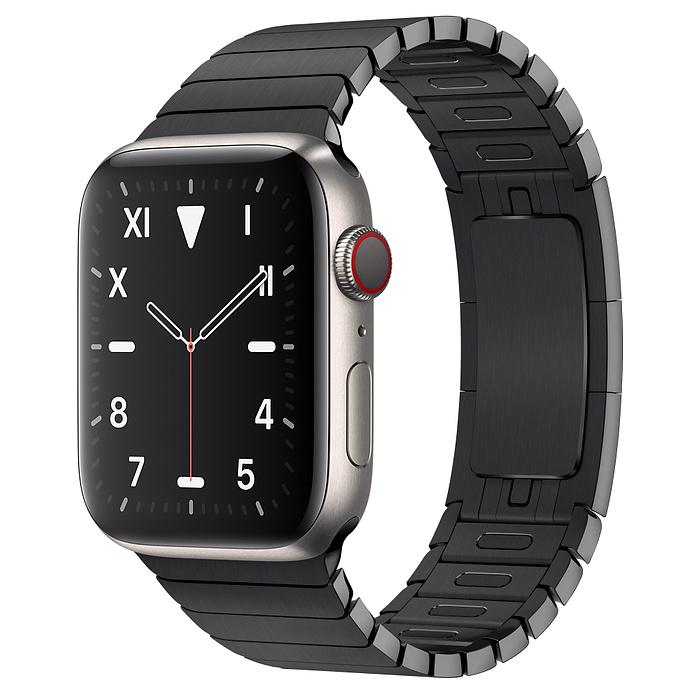Apple Watch 5 Titanium Case 44mm with Space Black LinkBracelet