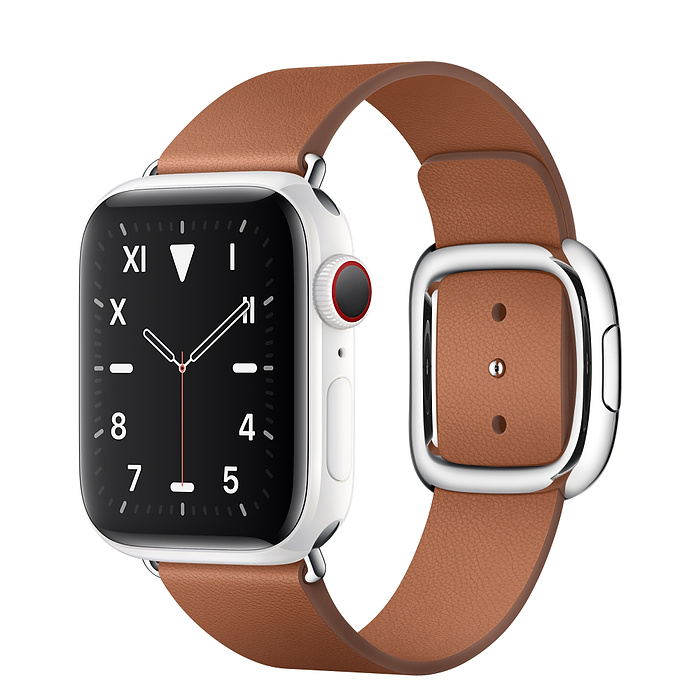 Apple Watch 5 Ceramic 40mm With Saddle Brown Modern Buckle