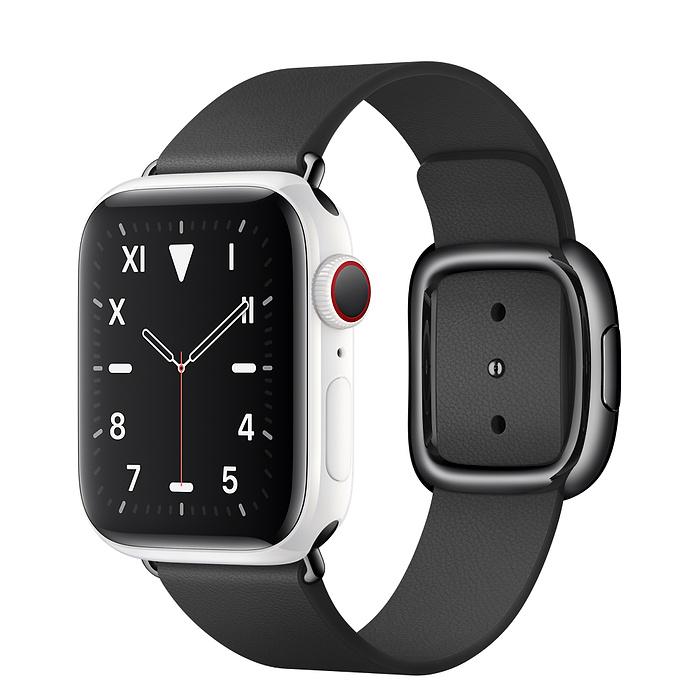 Apple Watch 5 Ceramic 40mm With Black Modern Buckle