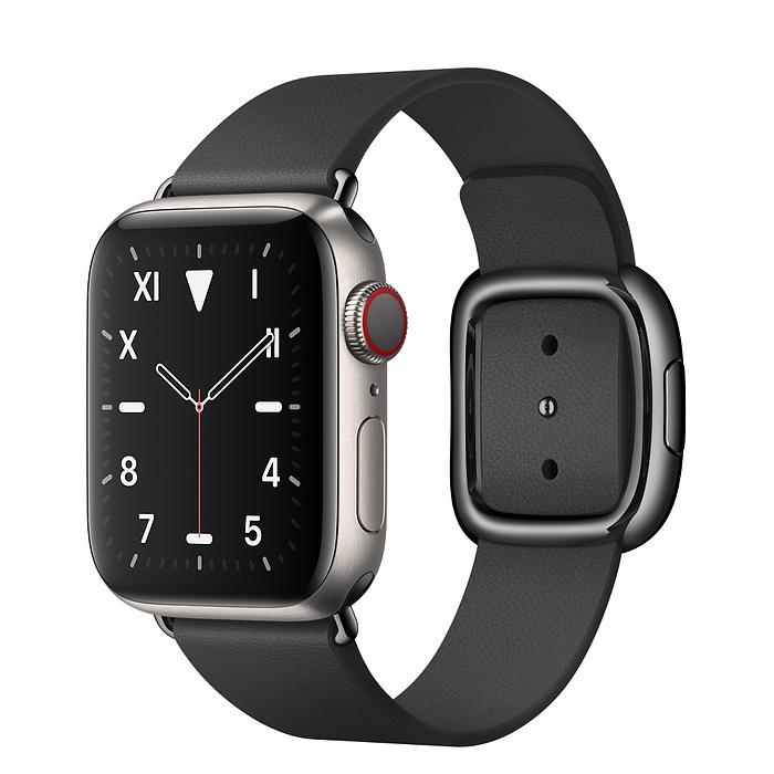 Apple Watch 5 Titanium Case 40mm with Black Modern Buckle
