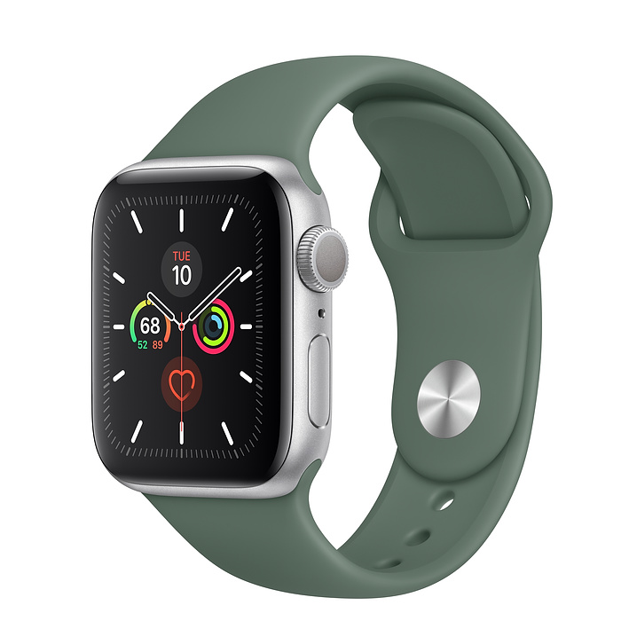 Apple Watch Series 5 GPS 40MM Silver / Pin Green
