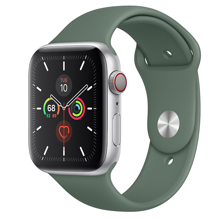 Apple Watch Series 5 LTE 44MM Silver / Pin Green
