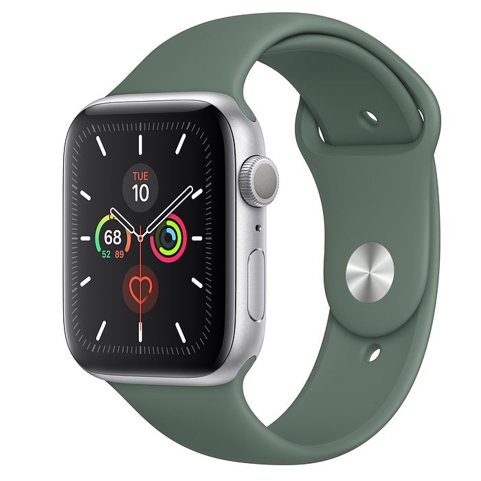 Apple Watch Series 5 GPS 44MM Silver / Pin Green
