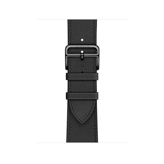 Dây Hermès - 40mm Noir Swift Leather Single Tour ( Chính hãng )
