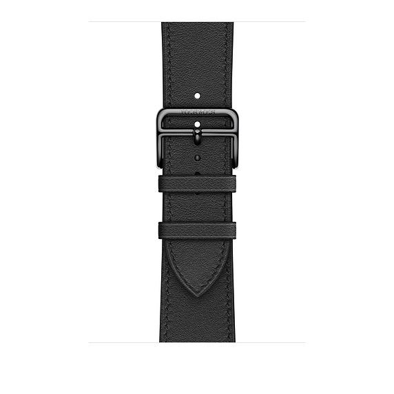 Dây Hermès - 44mm Noir Swift Leather Single Tour  ( Chính hãng )