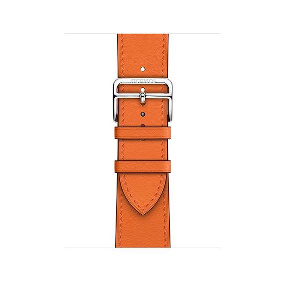 Dây Hermès - 40mm Orange Swift Leather Single Tour ( Chính hãng )