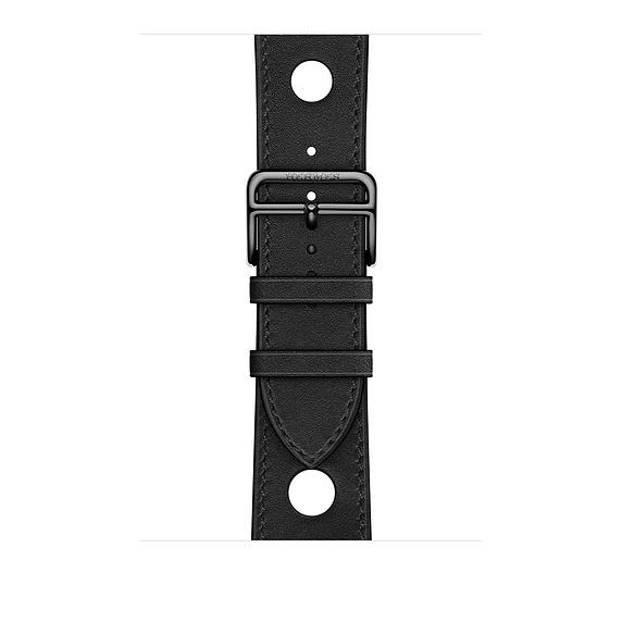Dây Hermès - 44mm Noir Gala Leather Single Tour Rallye ( Chính hãng )