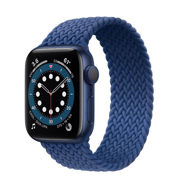 Apple Watch 6 GPS 40mm Blue / Braided Solo Loop Atlantic Blue