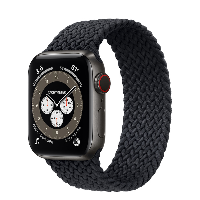 Apple Watch 6 40mm Space Black Titanium Case with Braided Solo Loop