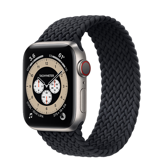 Apple Watch 6  40mm Titanium Case with Braided Solo Loop