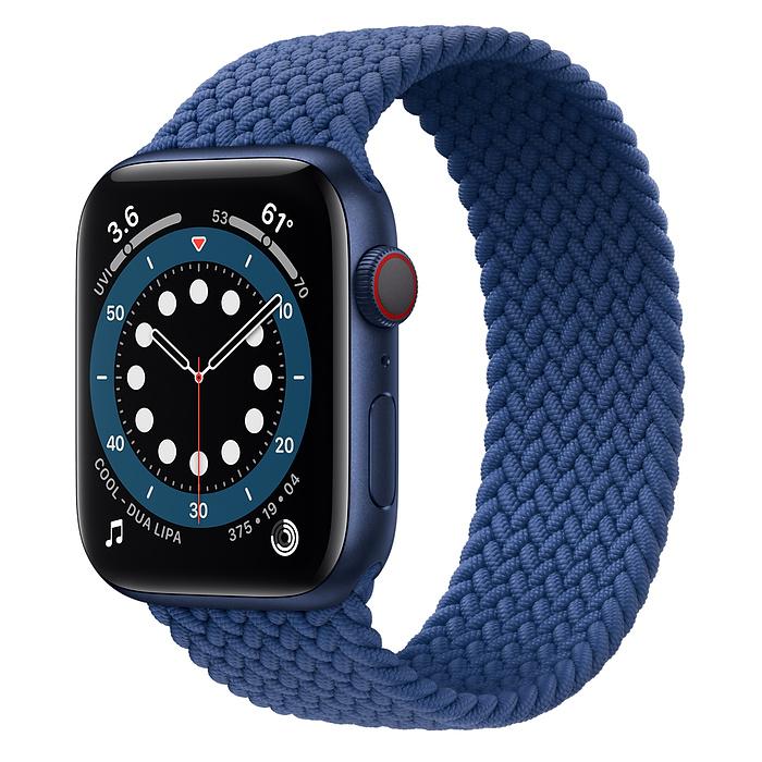 Apple Watch 6 LTE 44mm Blue / Braided Solo Loop Atlantic Blue