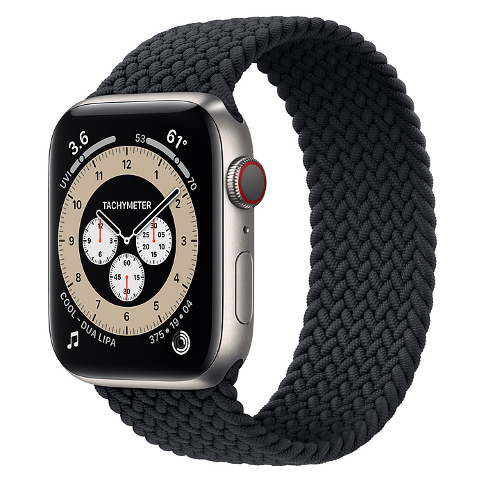 Apple Watch 6  44mm Titanium Case with Braided Solo Loop