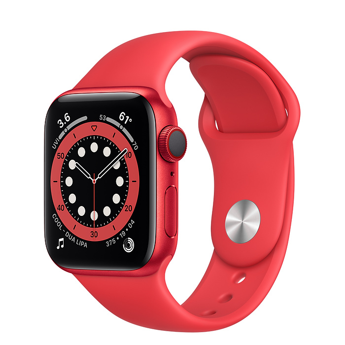 Apple Watch 6 LTE 40mm Red Sport Band M06R3