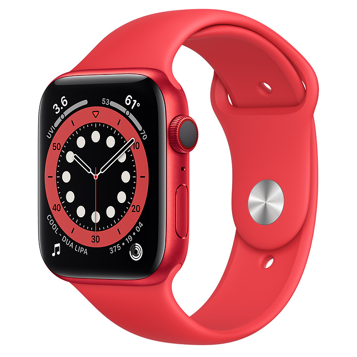 Apple Watch 6 LTE 44mm Red Sport Band M09C3