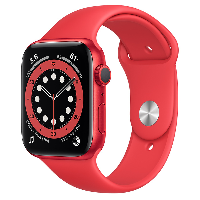 Apple Watch 6 GPS 44mm Red / Red Sport Band M00M3