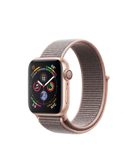 AW4 GPS 40MM Gold Aluminum Case with Pink Sand Sport Loop