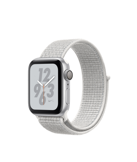 AW4 GPS 40MM Nike+ Silver Aluminum Case with Summit White Nike Sport Loop