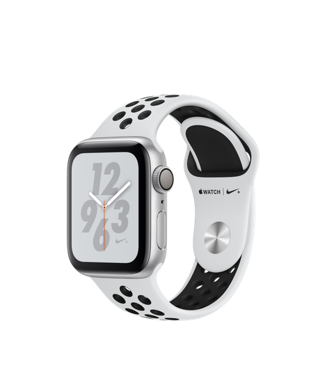AW4 GPS 40MM Nike+ Silver Aluminum Case with Pure Platinum/Black Nike Sport Band