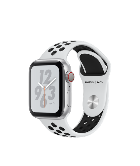 Apple Watch Series 4 LTE 40MM Nike+ Silver / Black Sport Band - MTV92