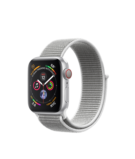 Apple Watch Series 4 LTE 40MM Silver/Seashell Sport Loop - MTUF2